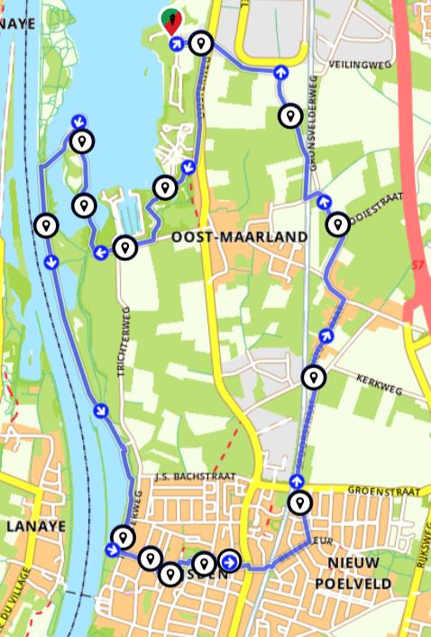 Wandelen Maastricht- Wandelen langs de Maas en door Eijsden