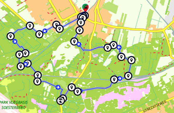 Wandelen Soesterduinen - Lange duinen en Soest route